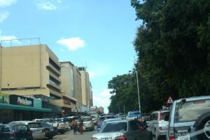 Traffic Standstill on Cairo Road in Luasaka.