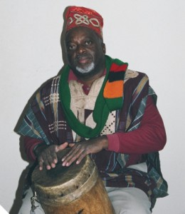 M. Tembo with drums