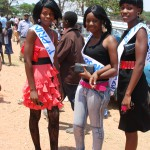 Contestants for the Mpika Miss Independence October 2012 at the celebrations.