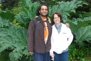 My son Kamwendo Tembo with his mother  Beth Tembo in Coos Bay in Oregon in the United States in Aug. 2012.