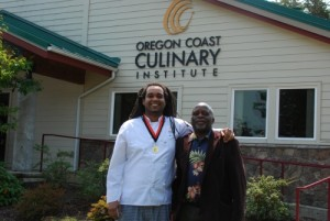 My son Kamwendo Tembo when he graduated from Culinary School at Oregon Coast Culinary Institute in the United States.