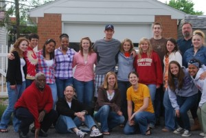Dr. Tembo with Faculty and his Sociology students at Bridgewater College in Virginia in the United States in May 2011