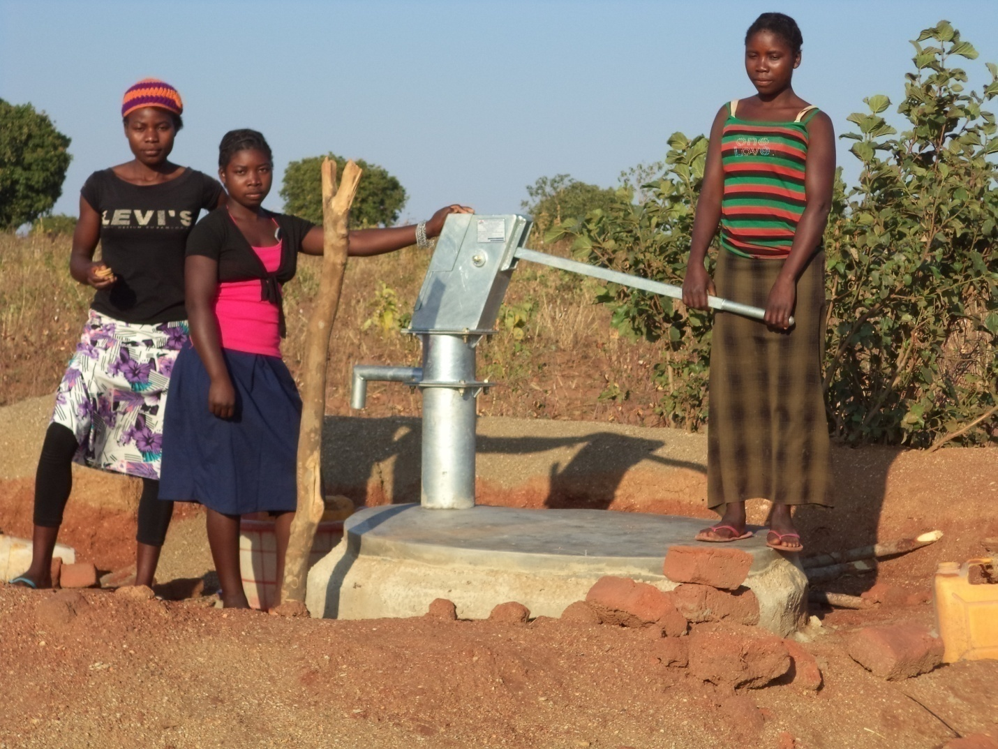Image result for borehole in a village