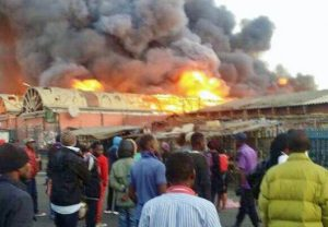 Lusaka City Market Fire